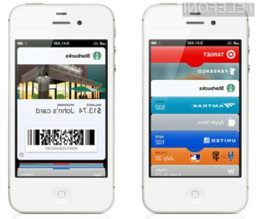 Mobilnik iPhone 5 bomo lahko koristili tudi za plačevanje blaga in storitev.