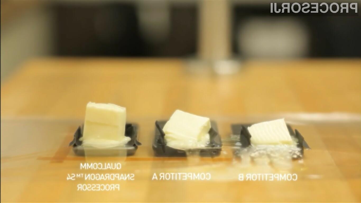 Maslo na Qualcommovem procesorju Snapdragon S4 se je stopilo najpočasneje.