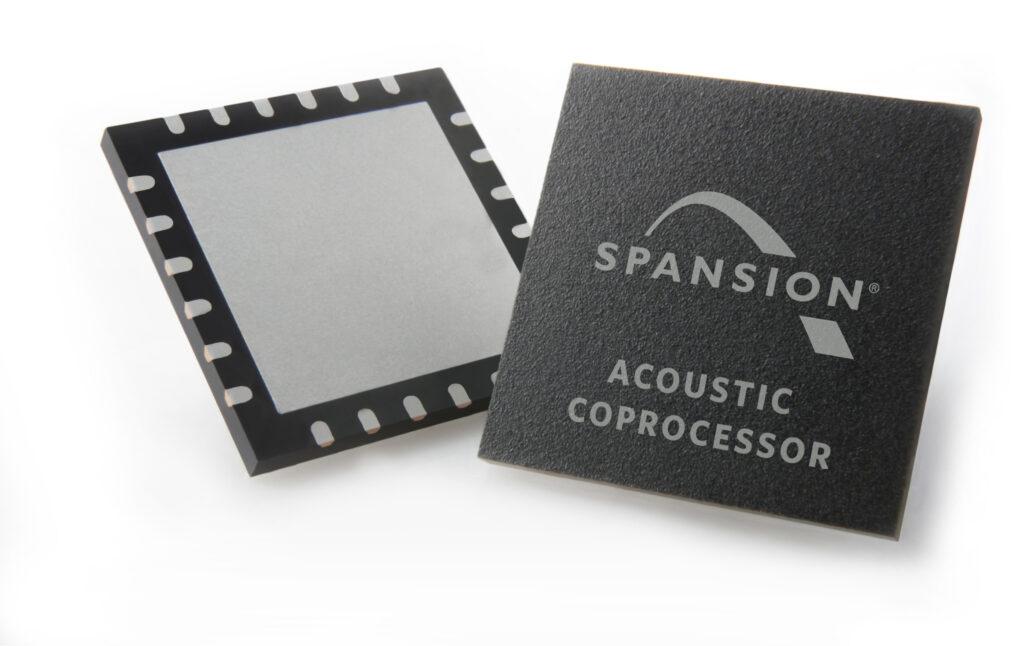 Koprocesor Spansion Acoustic omogoča implementacijo hitrejši in natančnejših rešitev za prepoznavanje glasu.