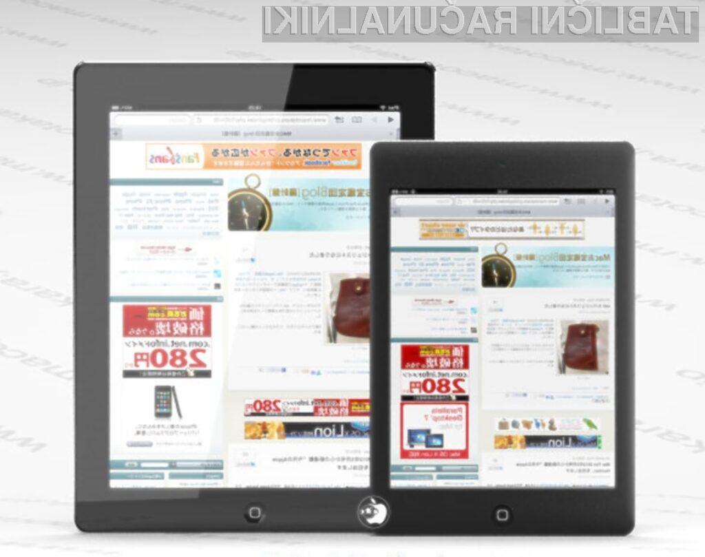 Za miniaturni Applov tablični računalnik iPad naj bi bilo potrebno odšteti okoli 230 evrov.