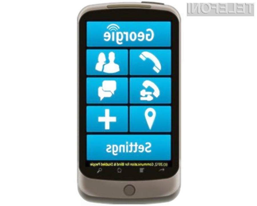 Aplikacija Georgie je pametne mobilne telefone približala slepim in slabovidnim.