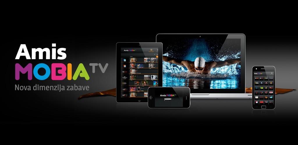 Amis MobiaTV je mobilna televizija, ki omogoča spremljanje 50 TV-programov na  osebnem računalniku, prenosniku, tabličnem računalniku ali pametnem telefonu.