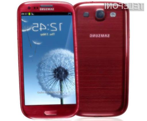 Samsung Galaxy S3 bo kmalu na voljo tudi v precej všečni rdeči barvi.