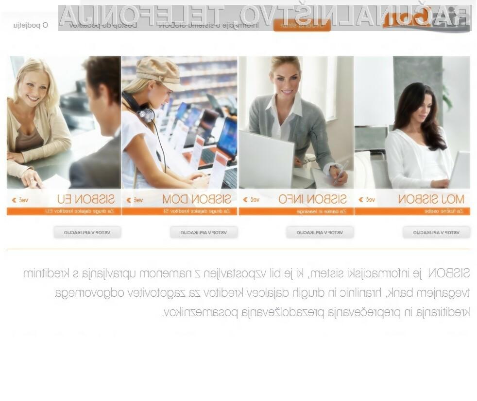 Na portalu SISBON lahko preverite, ali vam bodo banke odobrile kredit.