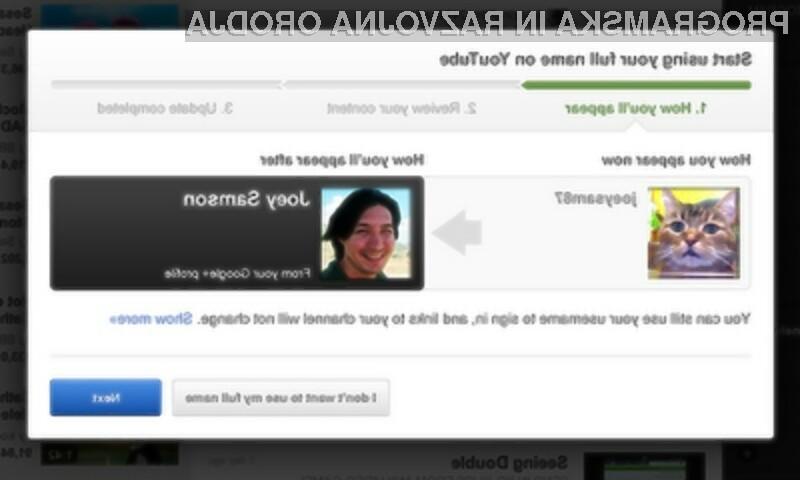Verjetno je le še vprašanje časa, kdaj bo komentiranje s pravim imeanom na portalu YouTube postalo obvezno.