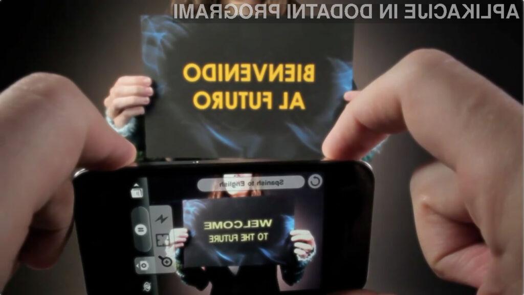 Aplikacija zaenkrat prevaja zgolj iz francoskega, španskega in italijanskega jezika v angleščino.