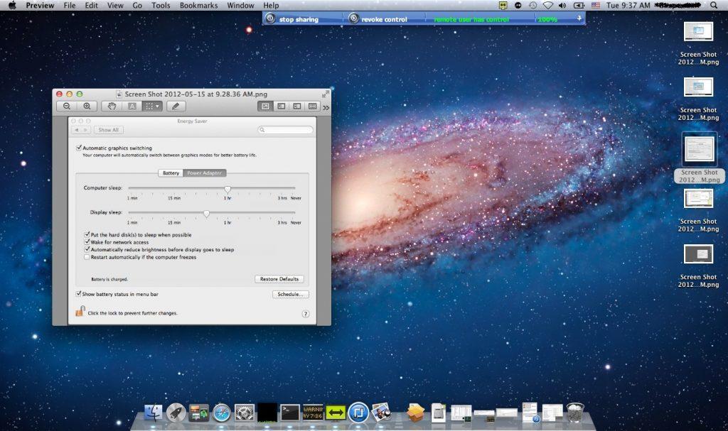 Delo na oddaljenem zaslonu Mac-a
