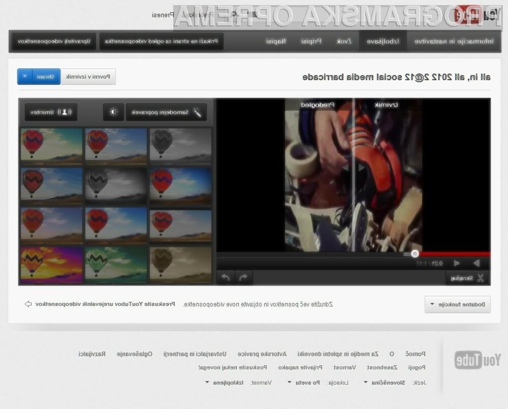 Prenovljeni urejevalnik videoposnetkov je lepši in uporabnejši!