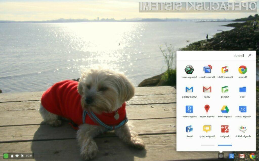 Všečni mobilni operacijski sistem Chrome OS.