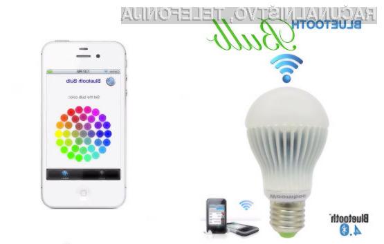 Pametno svetilko Bluetooth Bulb lahko upravljamo iz vseh naprav, ki so opremljene z brezžično povezavo Bluetooth 4.0.