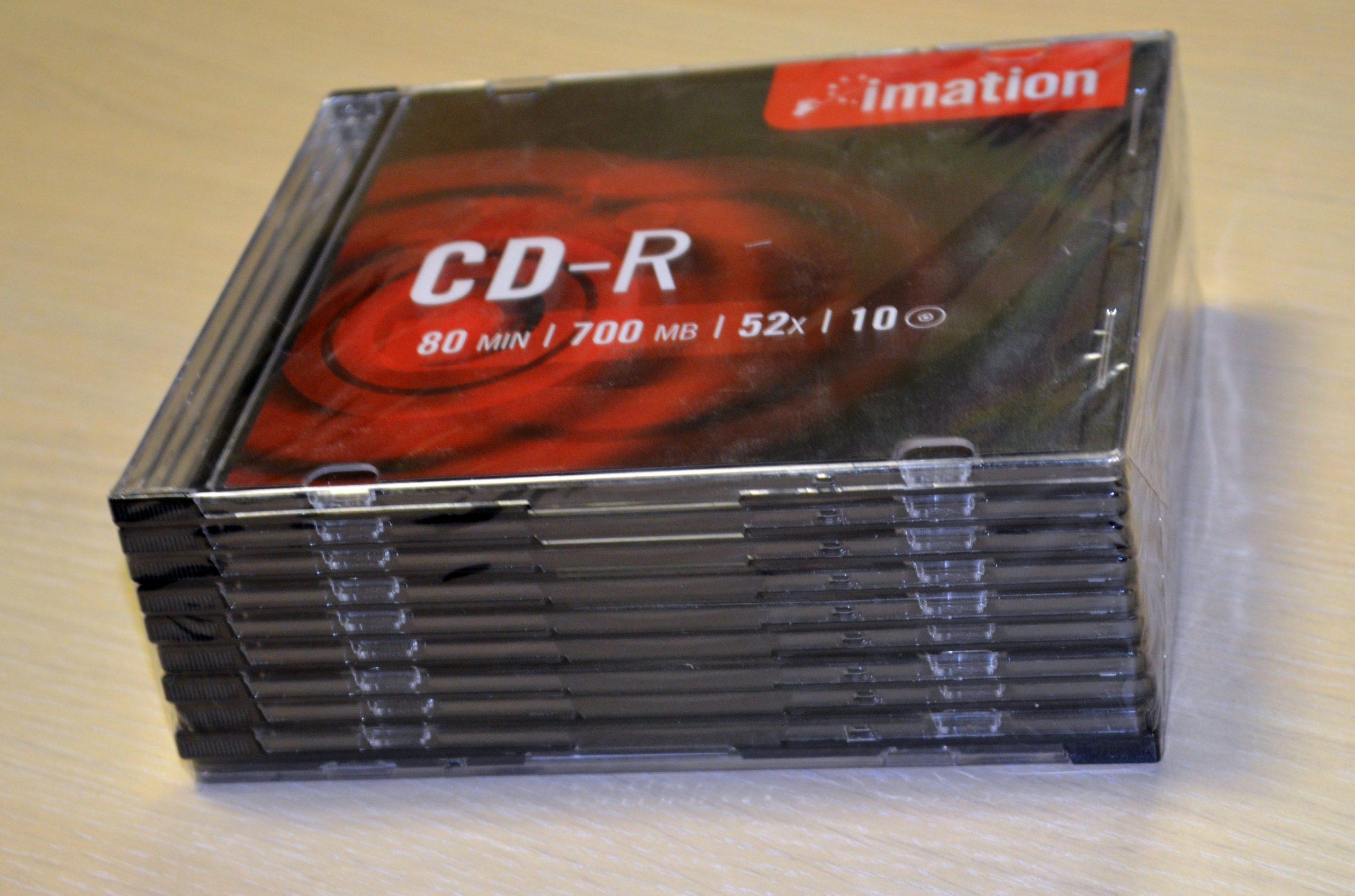 10PK RETAIL SLIM CD-R Imation