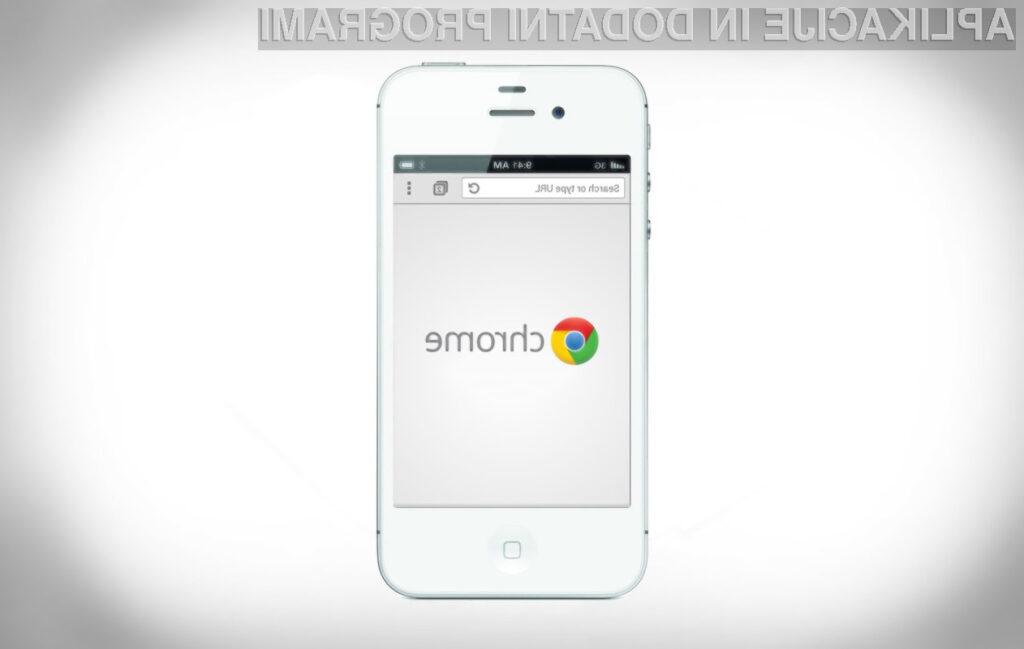 Novi Chrome za iOS omogoča enostavno deljenje vsebine preko družbenega omrežja Facebook.