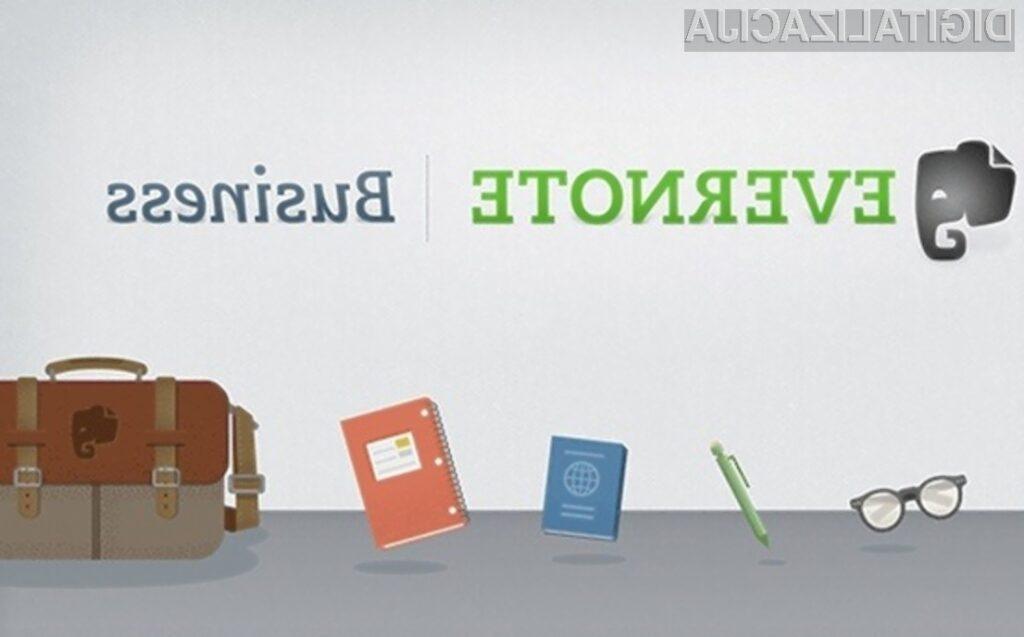 S storitvijo Evernote Business naj bi se delovna učinkovitost zaposlenih znatno povečala.
