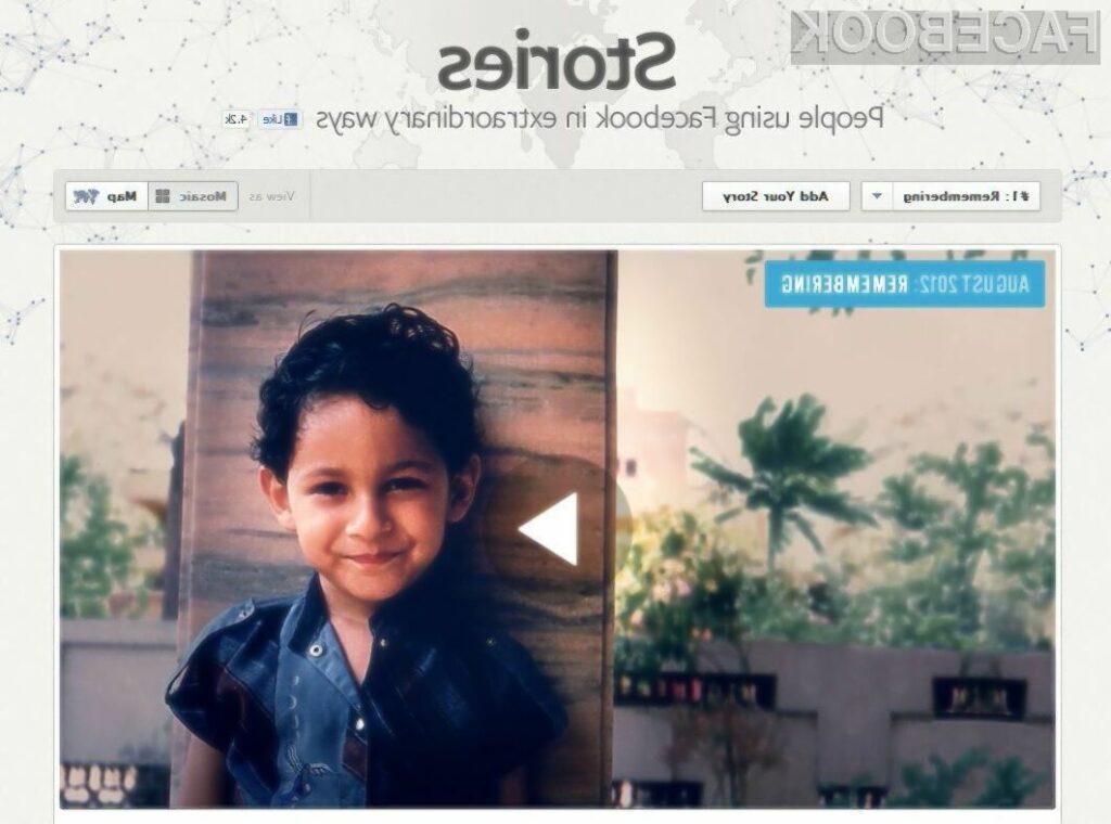 Facebook Stories bo spletna stran namenjena izpovedovanju življenjskih zgodb.