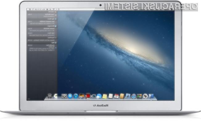 Z uporabo operacijskega sistema Mac OS X 10.8 se bo avtonomija vašega prenosnika skrajšala za petino.