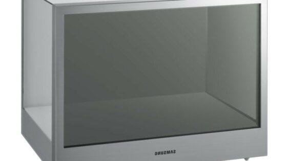 Samsungov model NL22B je nekakšna razstavna škatla s prozornim zaslonom.