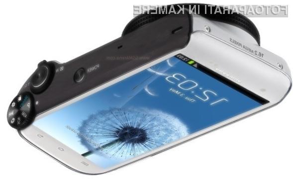 Pametni digitalni fotoaparat Samsung Galaxy S Camera bo vsaj za razred boljši od Nikona Coolpix S800c.