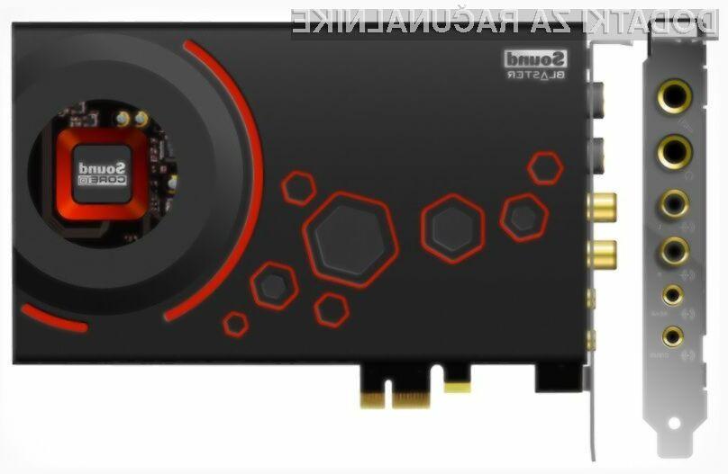 Nove zvočne kartice iz družine Sound Blaster Z bodo namenjene pravim ljubiteljem glasbe.