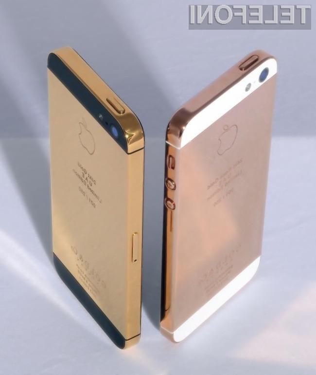 Za prestižni zlati iPhone 5 bo potrebno odšteti 3500 evrov.