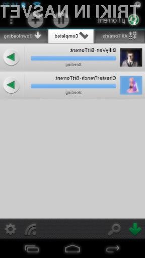 Odjemalec µTorrent na Androidu