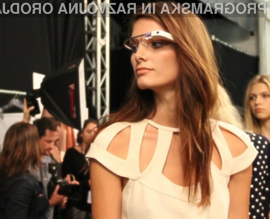 Manekenke so bile nad Googlovimi očali Glass nadvse navdušene!