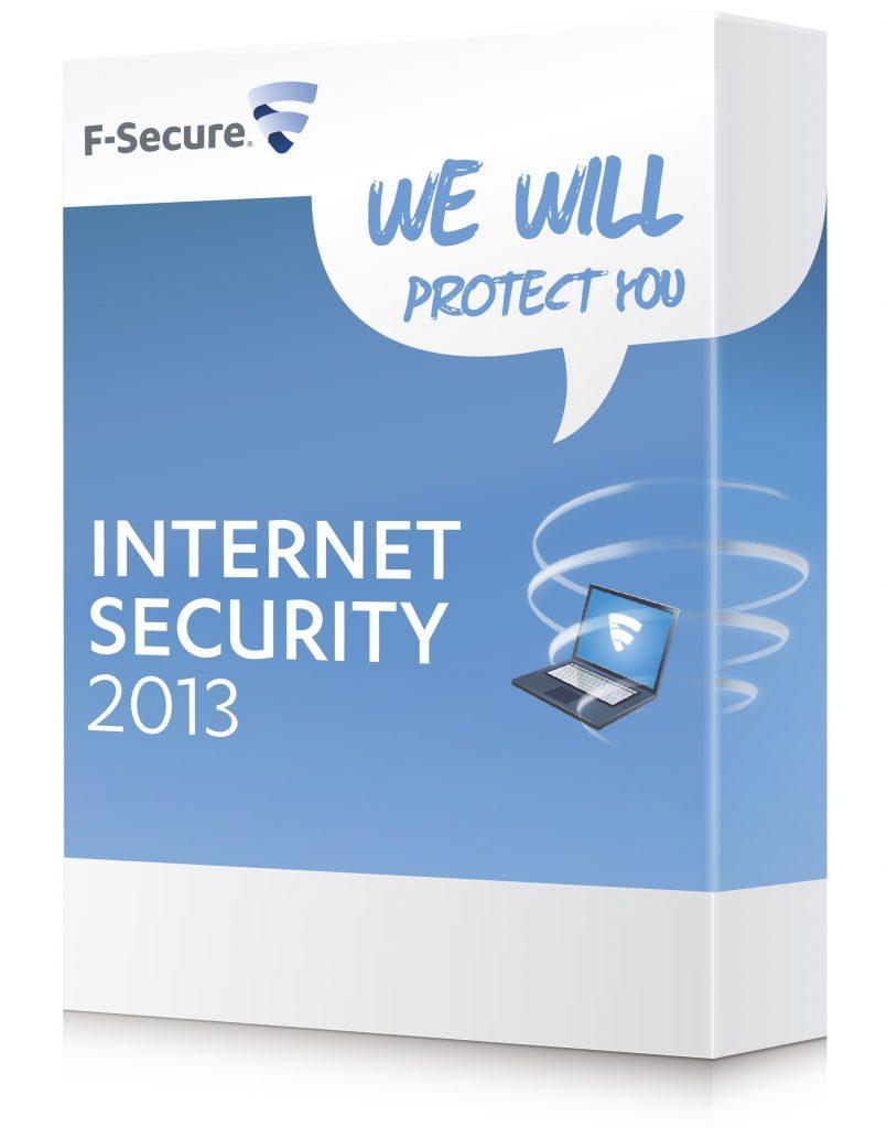 F-Secure Internet Security 2013 zagotavlja varno uporabo spleta, spletnih bank in trgovin.