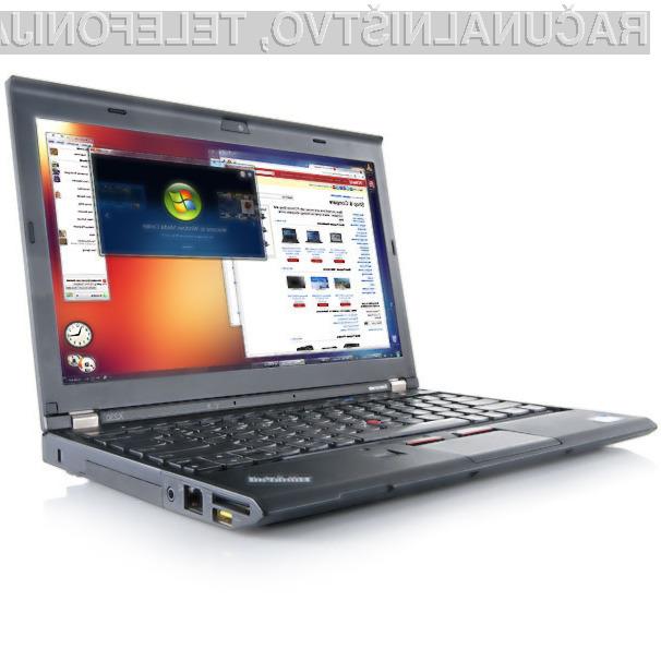 S prenosnikom Lenovo ThinkPad X230 si lahko zagotovimo kar 20-urno avtonomijo delovanja!