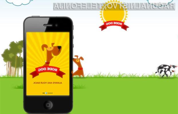 Aplikacija »Rode Dog« naj bi voznike odvračala od pisanja kratkih sporočil SMS med vožnjo.