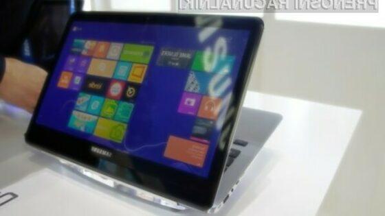 """Samsung je na sejmu IFA predstavil izredno zanimiv koncept """"dvozaslonskega"""" prenosnika."""