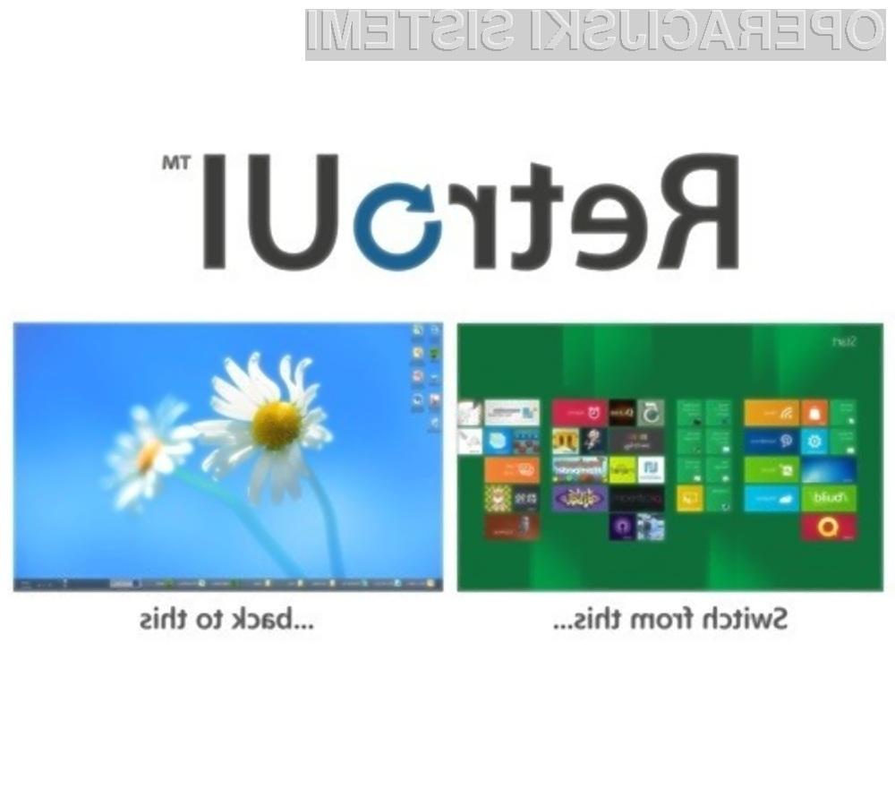Program RetroUI bo poskrbel, da se nam bo v Oknih 8 vedno prikazalo klasično namizje!