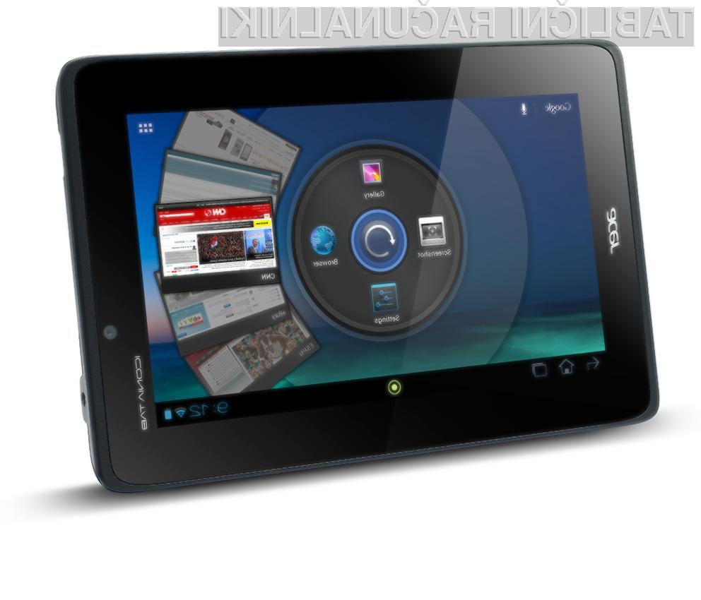 Acer Iconia A110 je opremljena z Nvidijino tehnologijo Tegra 3.