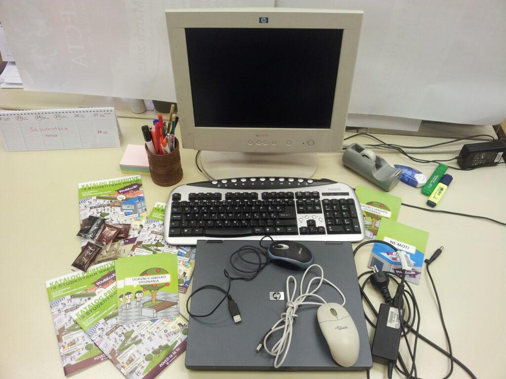 Prinesite računalniško opremo na Študentsko areno in pomagajte socialno ogroženim dijakom in študentom.
