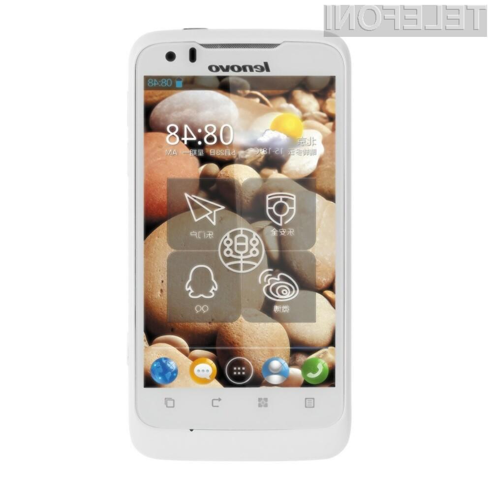 Pametni telefon Lenovo P700i se lahko pohvali s preceh zmogljivo baterijo.