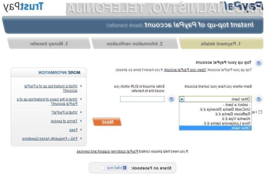 Kreditna kartica za Paypal ni več obvezna!