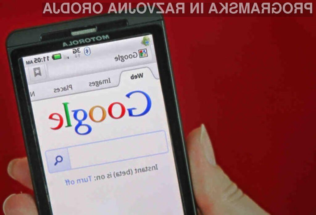 Mobilni spletni iskalnik Google bo za nas vpisal ključne besede - še preden bomo pomislili nanje.