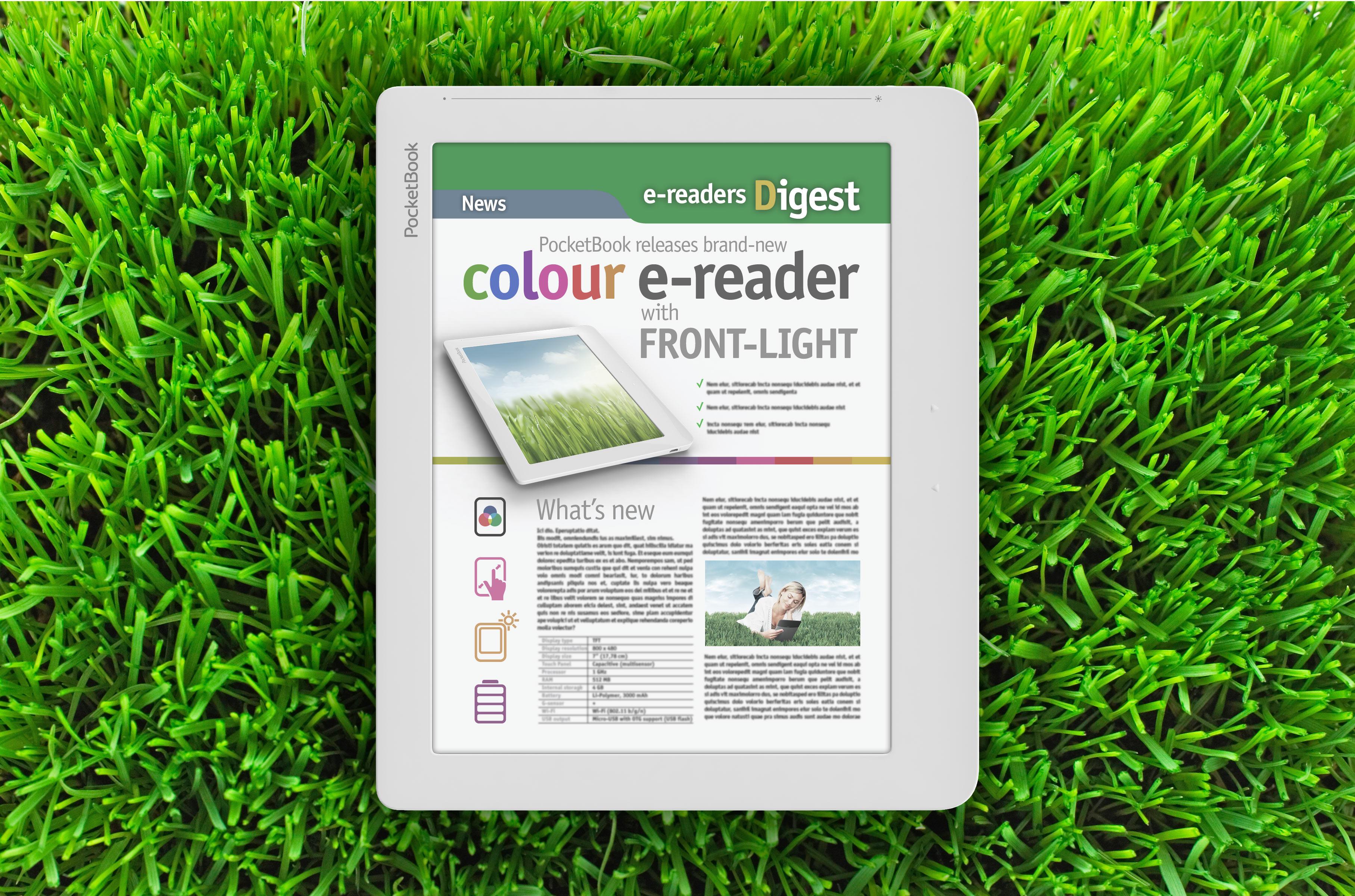 Bralniki podjetja PocketBook bodo kmalu opremljeni z barvnimi zasloni.