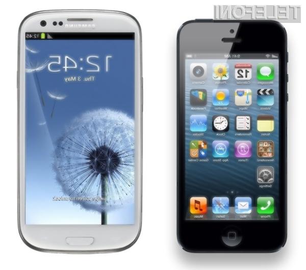 Samsung Galaxy S3 proti Applu iPhone 5: Naj zmaga najboljši!