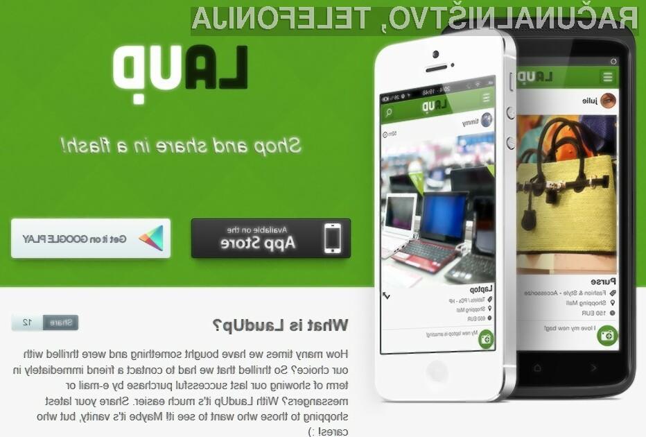 """LaudUp je novo """"nakupovalno"""" družbeno omrežje, ki so ga ustvarili mladi kreativci iz Srbije."""