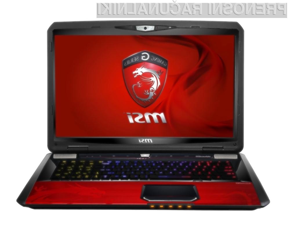 MSI je za svoja igralna prenosnika G60 in G70 pripravil operacijski sistem Windows 8.