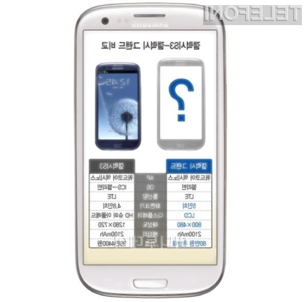 Samsung bo obliko mobilnika Galaxy Grand razkril šele tik pred pričetkom prodaje.
