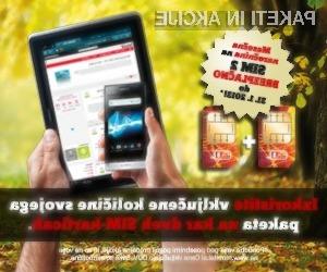 Z vklopom storitve SIM 2 vam bo zakupljena količina na voljo hkrati na mobitelu in dodatni napravi.