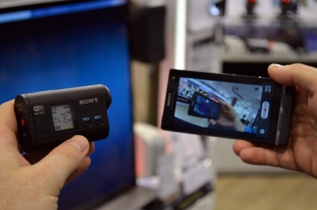 Sony Action Cam premore tudi Wi-Fi povezljivost.