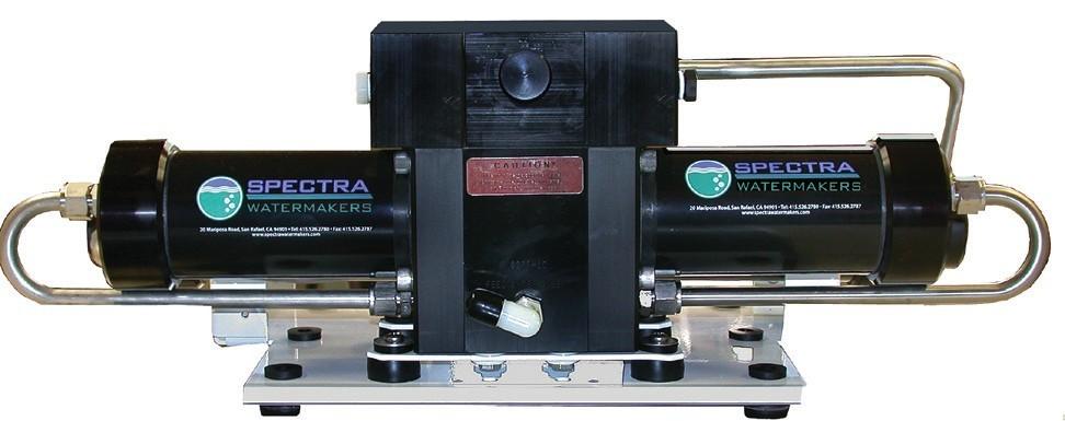 Spectra razsoljevalnik je zgrajen iz dvostopenjskega sistema črpanja in dveh komor pod visokim tlakom.