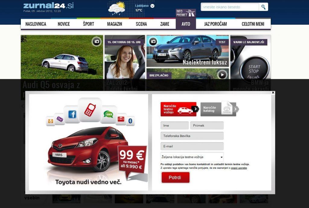 Z novim oglasom do interaktivnosti