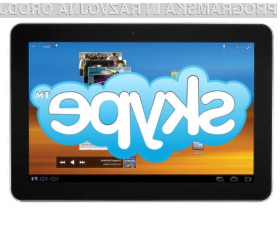 Novi Skype je pisan na kožo tabličnim računalnikom Android!