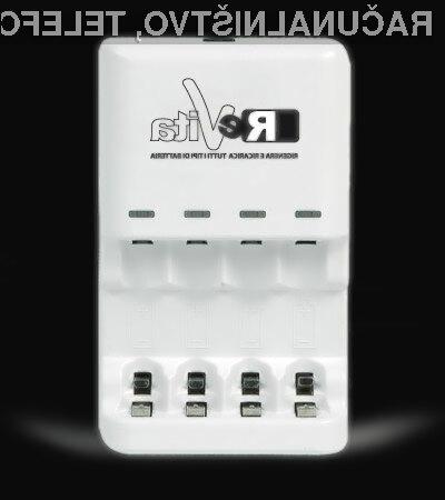 S polnilci ReVita lahko polnimo tudi baterije »uporabi in zavrzi«!