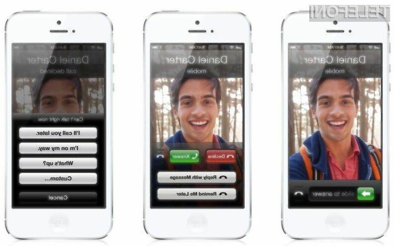 Apple bo že naslednjo generacijo iPhon-a opremil z naprednim sistemom upravljanja s klici.