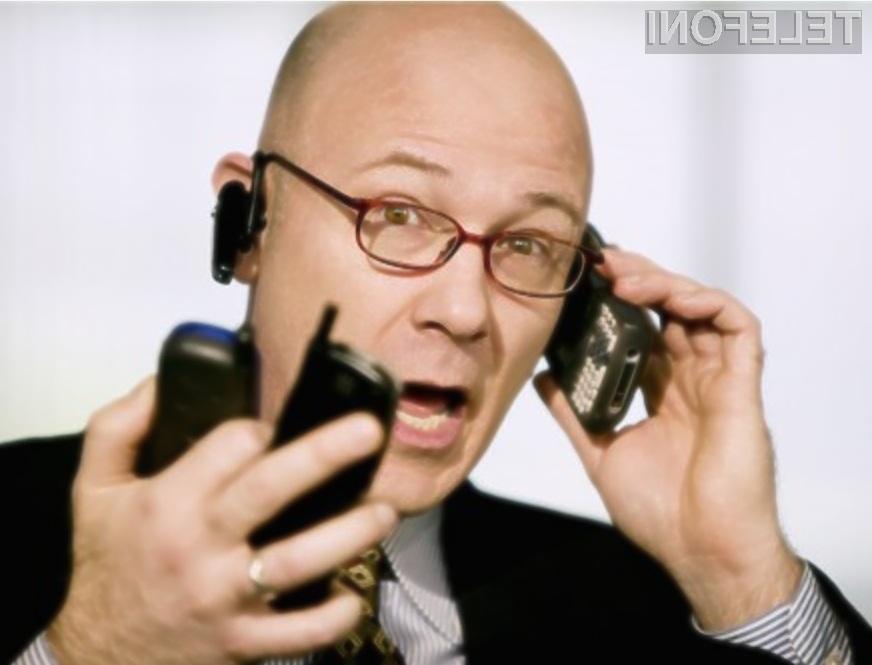 V Sloveniji ima kar četrtina gospodinjstev v lasti štiri mobilne telefone ali več!