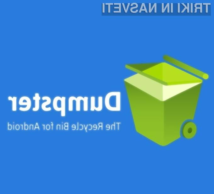 Z nameščeno aplikacijo Dumpster - Recycle Bin bomo lahko povsem brez skrbi brisali datoteke.