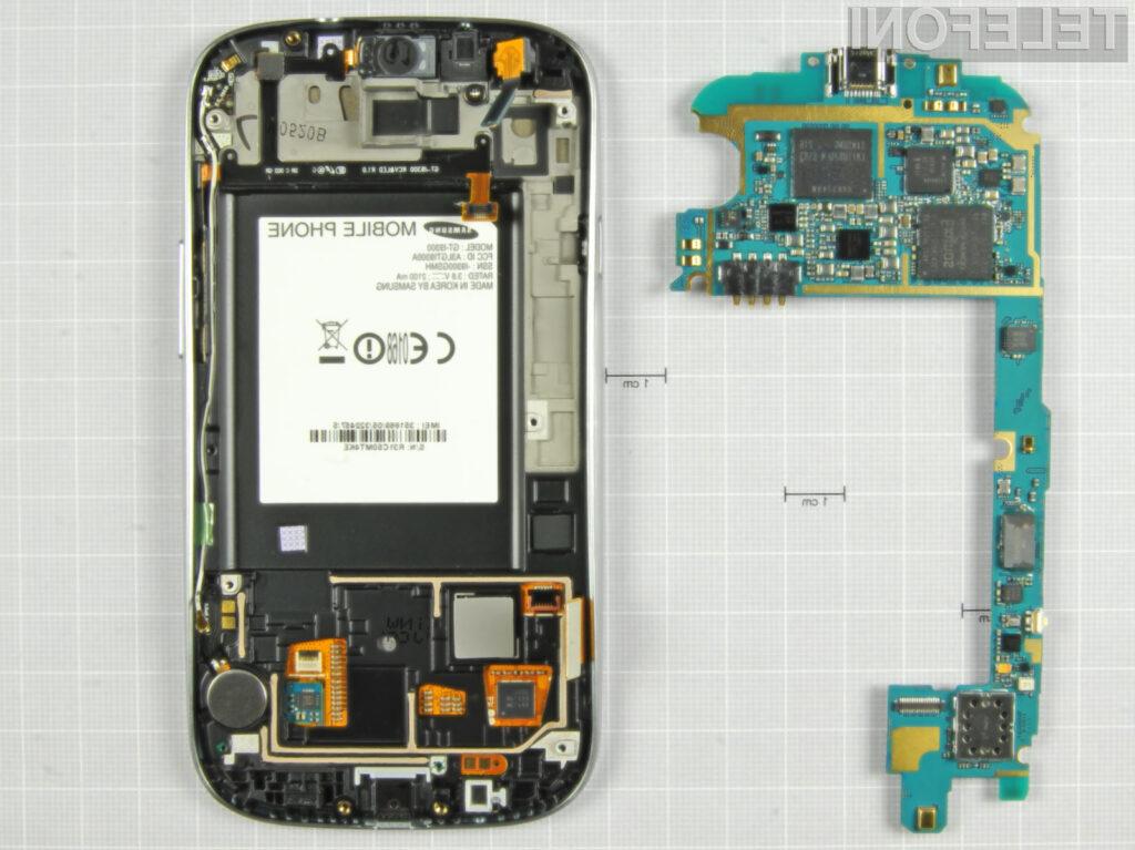 """Določena serija pametnih telefonov Galaxy S3 je opremljena s """"problematičnimi"""" matičnimi ploščami."""